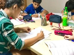 Punggol PSLE Tutors marks students work and makes sure they are correct.