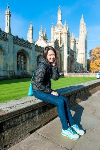 Cambridge University-Tutor Yuet Ling in Cambridge University, King's College, UK.