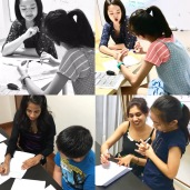 In our Singapore Tuition Centre for English, all our student's work are marked and checked to make sure their work are done correctly.